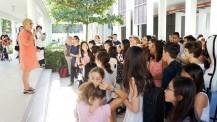 L'Orchestre des lycées français du monde (saison 3) à Ho-Chi-Minh-Ville: accueil par la proviseure