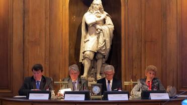 H. Carrère d'Encausse, G.Waïss, X. North et X. Darcos