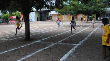 L'épreuve de sprint au lycée Saint-Exupéry transformé en sta