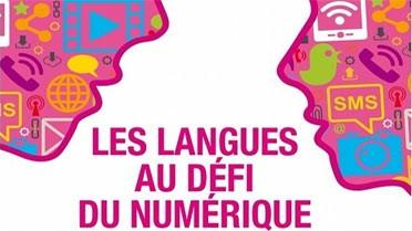 """Visuel """"Les langues au défi numérique"""""""