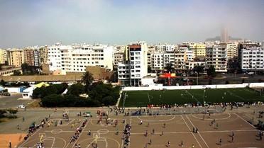 Les installations sportives du lycée Lyautey, cadre des finales