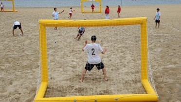 Handball sur sable à Arcachon en 2011... et bientôt handball s