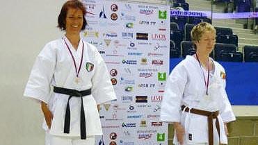 Nathalie Moreau sur la plus haute marche du podium