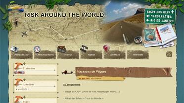Capture d'écran du site Riskaroundtheworld
