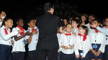 Le président de la République félicite les élèves