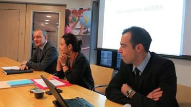 Olivier Boasson, Lucia da Silva et Laurent Métais.