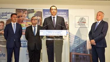 Victor Ponta a également prononcé un discours d'inauguration