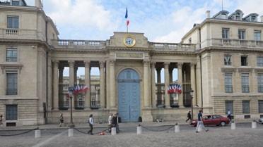 L'Assemblée nationale vue de la place du palais Bourbon