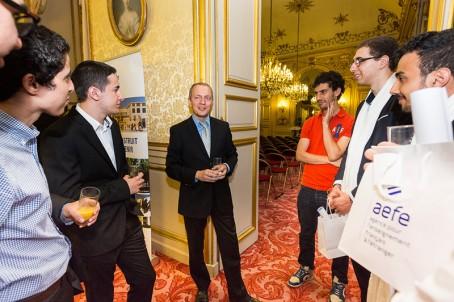 Olivier Boasson avec des étudiants