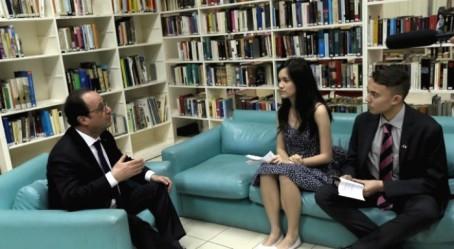 Interview par les élèves