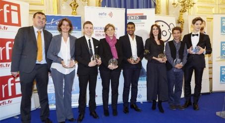 Hervé Heyraud et les lauréats