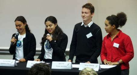 Allocution des élèves de Vienne et de Casablanca
