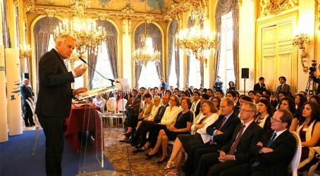 Photo : réception au Quai d'Orsay