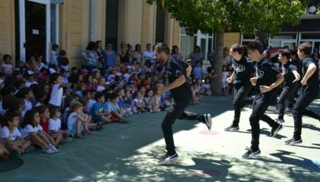 Spectacle de break dance à Barcelone