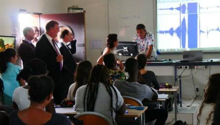 Visite d'une classe au lycée français