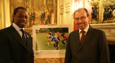 Serge Betsen et Christophe Bouchard