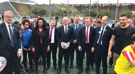 Les ministres et personnalités du mouvement sportif