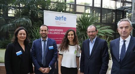 Responsables de l'AEFE et une ancienne boursière