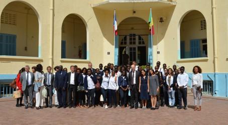 À Dakar, avec le ministre de l'Éducation nationale