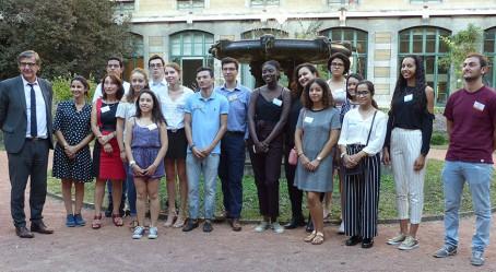 Photo de groupe des lauréats à Lyon