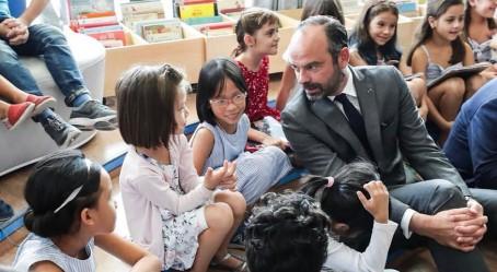 Le Premier ministre Édouard Philippe à la rencontre des élèves