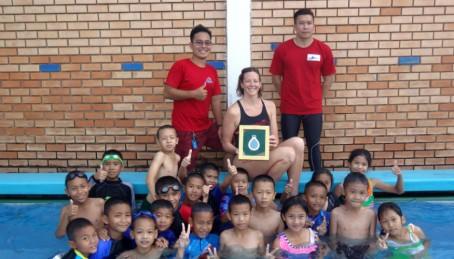 Solenne Figuès au lycée français de Vientiane