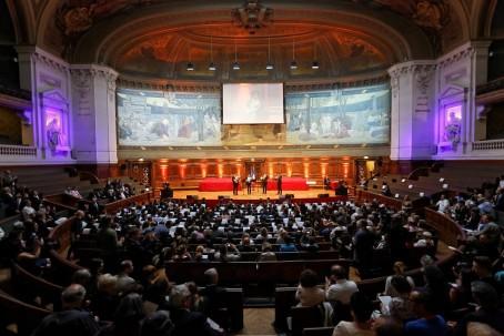 Vue d'ensemble du grand amphithéâtre la Sorbonne