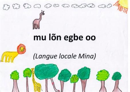 """J'aime les langues"" en langue mina"