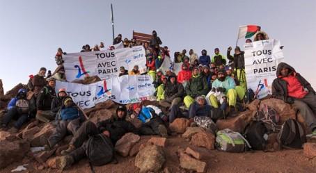 Sur le mont Kenya