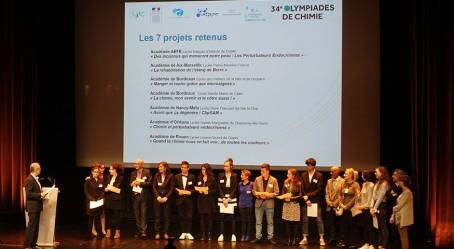 Les finalistes du concours Parlons chimie