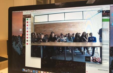 La classe de 4e 7 du lycée franco-mexicain à travers l'écran