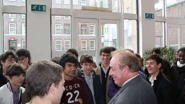 Rencontre au lycée français de Londres, en octobre 2010