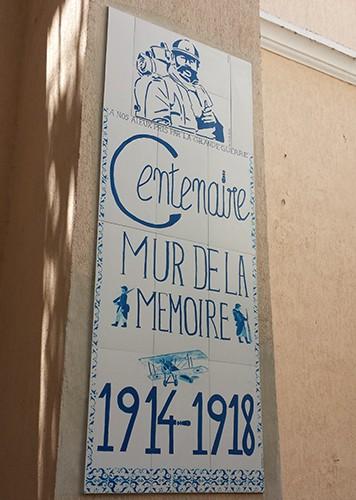 Mur de la mémoire à Rio de Janeiro