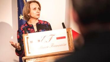 Anne-Marie Descôtes à la cérémonie de l'Excellence française