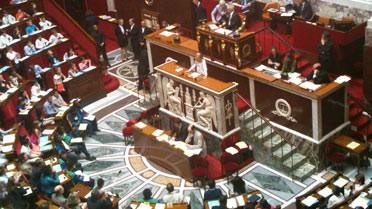 L'hémicycle de l'Assemblée, le 8 juin 2013