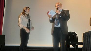 Photo: remise des prix par Bernard Roesch